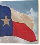 Lone Star Flag Wood Print