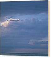 Lone Thunderstorm On Lake Erie Wood Print