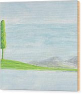Lone Tree 2010 Wood Print