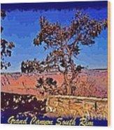 Lone Tree South Rim Poster Wood Print