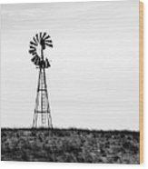Lone Windmill Wood Print