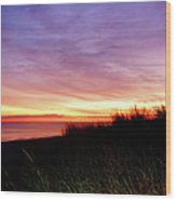Lonely Beach At Sunrise Norfolk Va Wood Print