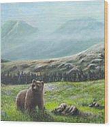 Lonely Bear Wood Print
