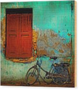 Lonely Bicycle Wood Print