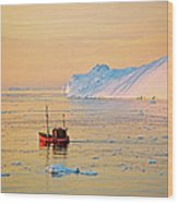 Lonely Boat - Greenland Wood Print