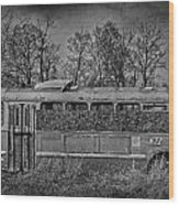 Lonely Bus  Wood Print