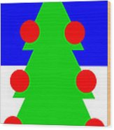Lonely Christmas Tree wishes you a Merry Christmas  Wood Print