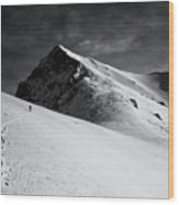 Lonely Climber Wood Print