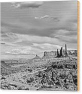 Lonely Cloud And Totem Pole - Monument Valley Tribal Park Arizona Wood Print