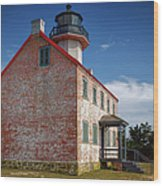Lonely East Point Lighthouse Wood Print