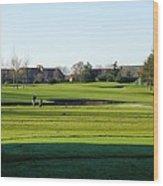 Lonely Golfer Wood Print