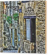 Lonely Lane In Sarlat France Wood Print