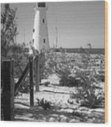 Lonely Light House  Wood Print