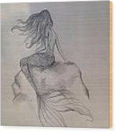 Lonely Mermaid Wood Print