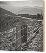 Lonely Mountain Road Wood Print