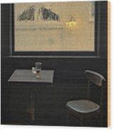 Lonely Bar Scene Wood Print