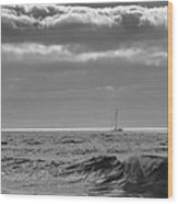 Lonely Sailor Wood Print