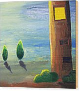 Lonely Tower Wood Print