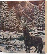 Loner Wood Print by W  Scott Fenton