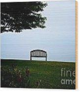 Lonesome Bench Wood Print