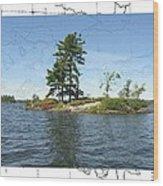 Lonesome Island Wood Print