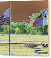 Lonestar Park - Backstretch - Photopower 2205 Wood Print