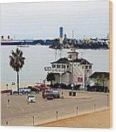 Long Beach Bay California / Tintbrush Effect Wood Print