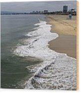 Long Beach California Shoreline Wood Print