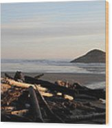 Long Beach Drift  B.c. Wood Print