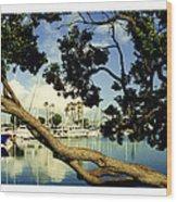 Long Beach Marina Wood Print