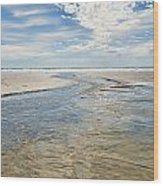 Long Beach Outflow Wood Print