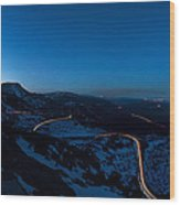 Long Exposure In Serra Da Estrela Portugal Wood Print