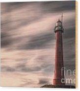 Long Exposure Lighthouse Wood Print