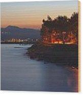 Long Exposure On Colorful Promenade Wood Print