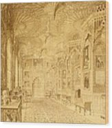 Long Gallery At Strawberry Hill Wood Print