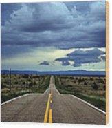 Long Highway Wood Print