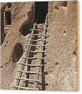 Long House Front Door Bandelier National Monument Wood Print
