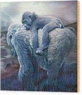 Silverback Gorilla - Long Journey Home Wood Print