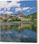 Long Lake Beartooth Pass Wood Print