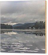 Long Lake Long View Wood Print
