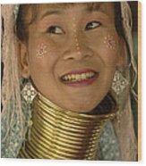 Long Necked Woman 2 Wood Print