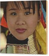 Long Necked Woman Thailand 4 Wood Print