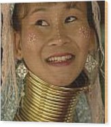 Long Necked Woman Thailand 5 Wood Print