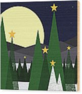 Long Night Moon Wood Print