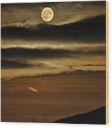 Long Nights Moon Wood Print