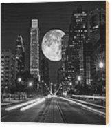 Long Nights Moon Wood Print