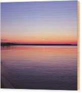 Long Past Sunset Wood Print