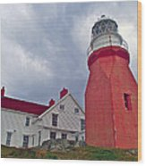 Long Point Lighthouse In Twillingate-nl Wood Print