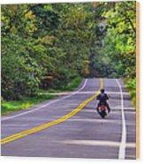 Long Ride Wood Print
