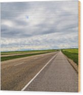 Road To The Sky In Saskatchewan. Wood Print